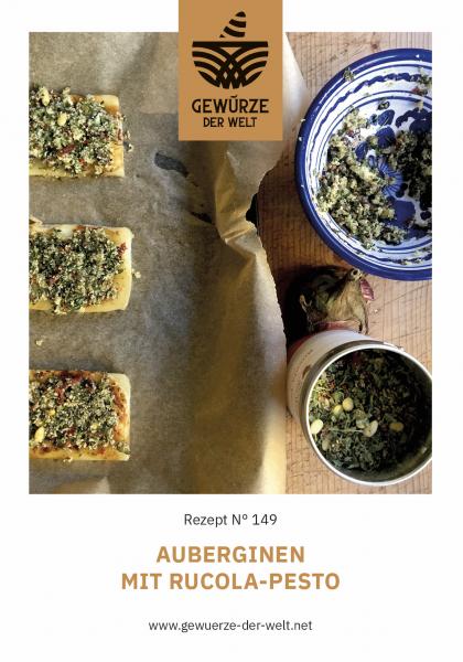 Rezeptkarte N°149 Auberginen mit Rucola