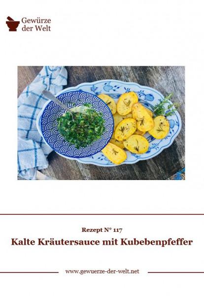 Rezeptkarte N°117 Kalte Kräutersauce mit Kubebenpfeffer