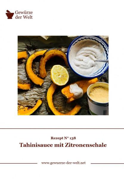 Rezeptkarte N°138 Tahinisauce mit Zitronenschale