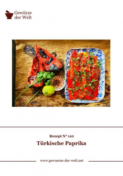 Rezeptkarte N°110 Türkische Paprika