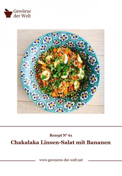 Rezeptkarte N°61 Chakalaka Linsen-Salat mit Bananen