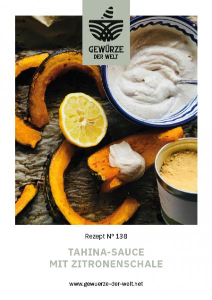 Rezeptkarte N°138 Tahinasauce mit Zitronenschale