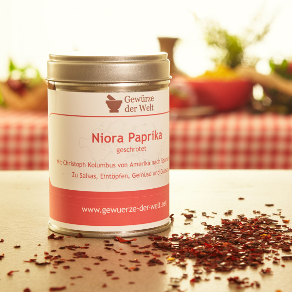 Niora Paprika geschrotet