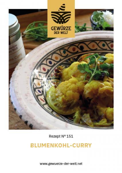 Rezeptkarte N°151 Blumenkohl-Curry