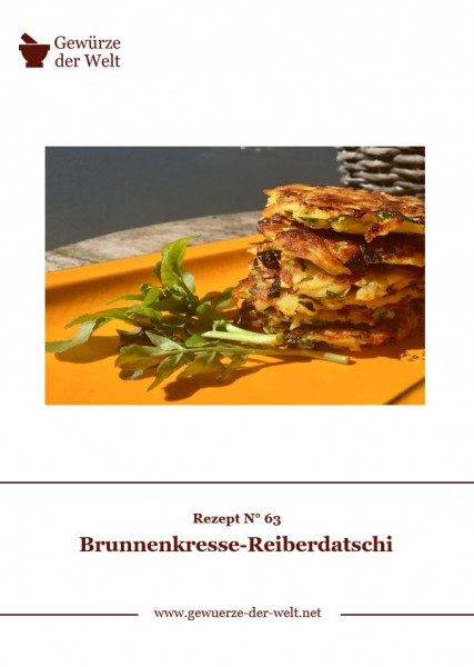 Rezeptkarte N°63 Brunnenkresse-Reiberdatschi