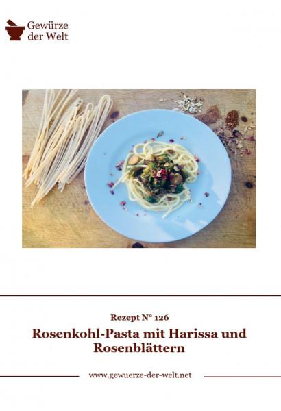 Rezeptkarte N°126 Rosenkohl-Pasta