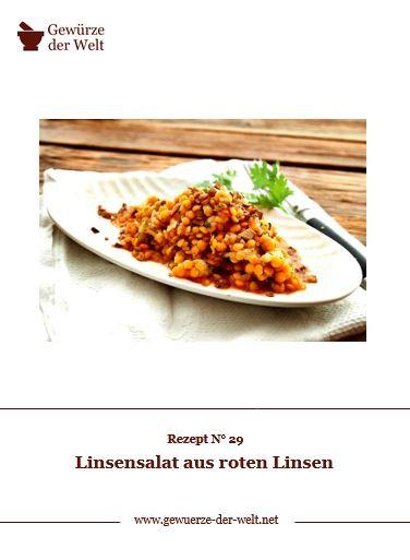 Rezeptkarte N°29 Linsensalat aus roten Linsen