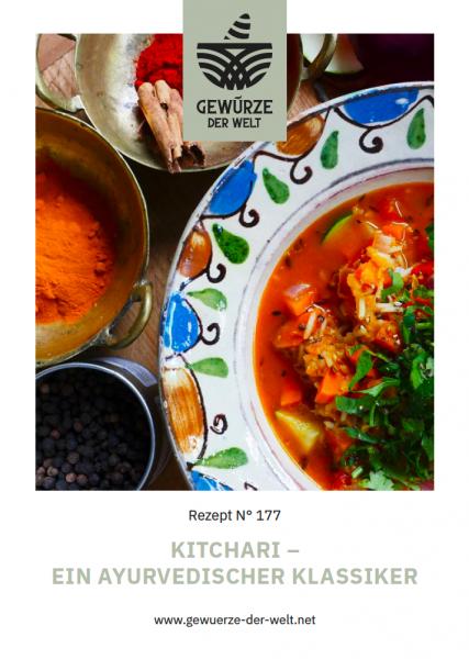 Rezeptkarte N°177 Kitchari - ein ayurvedischer Klassiker