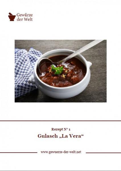 "Rezeptkarte N°1 Gulasch ""La Vera"""