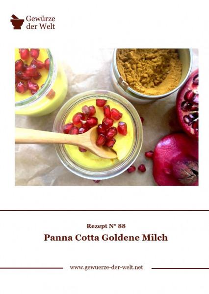Rezeptkarte N°88 Panna Cotta Goldene Milch