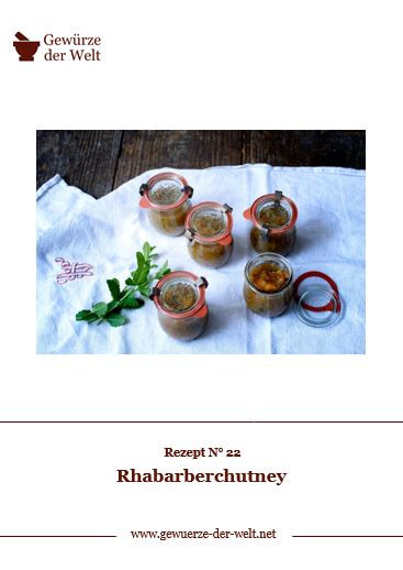 Rezeptkarte N°22 Rhabarberchutney