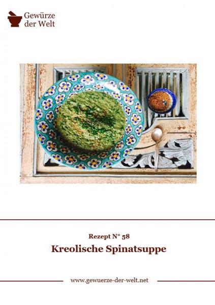 Rezeptkarte N°58 Kreolische Spinatsuppe