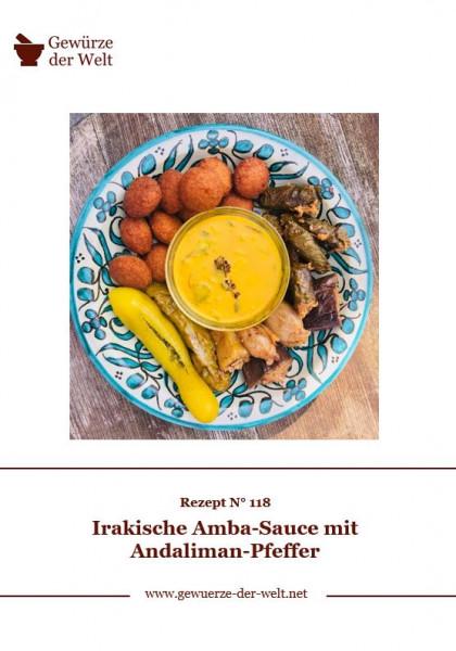 Rezeptkarte N°118 Irakische Amba-Sauce mit Andaliman-Pfeffer