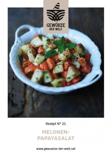 Rezeptkarte N°21 Melonensalat