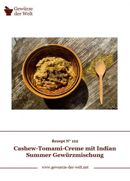 Rezeptkarte N°122 Cashew-Tomami-Creme