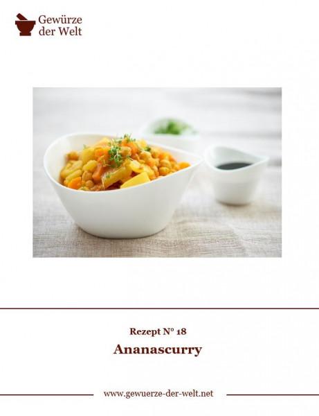 Rezeptkarte N°18 Ananascurry