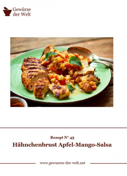Rezeptkarte N°45 Hähnchenbrust Apfel Mango Salsa