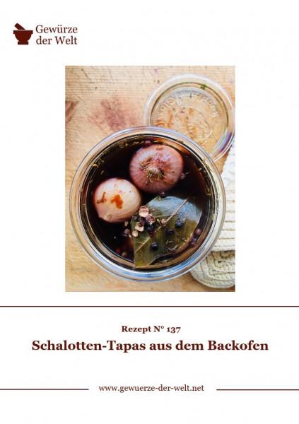 Rezeptkarte N°137 Schalotten-Tapas aus dem Backofen