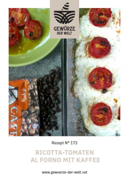 Rezeptkarte N°173 Ricotta-Tomaten al Forno mit Kaffee
