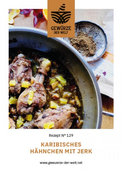 Rezeptkarte N°129 Karibische Hähnchenrezept mit Jerk