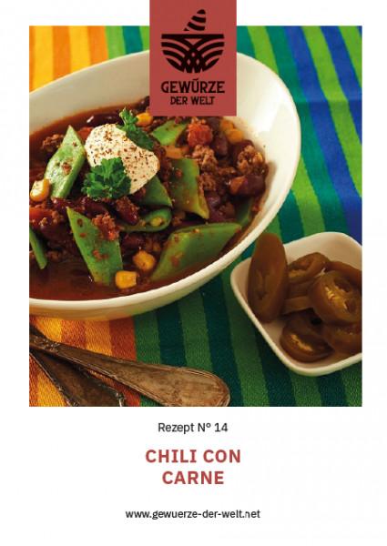 Rezeptkarte N°14 Chili con Carne