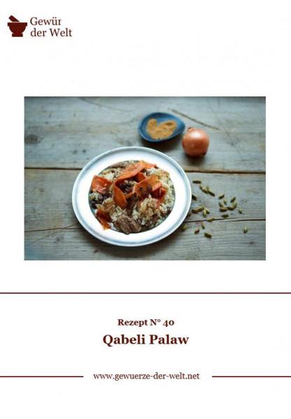 Rezeptkarte N°40 Qabeli Palaw