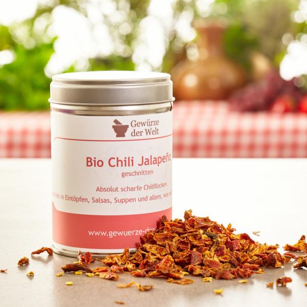 Bio Chili Jalapeno geschnitten