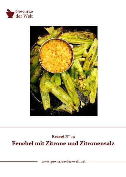 Rezeptkarte N°74 Fenchel mit Zitrone und Zitronensalz