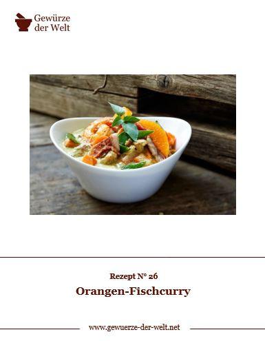 Rezeptkarte N°26 Orangen-Fischcurry