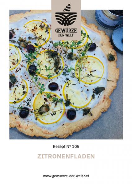 Rezeptkarte N°105 Zitronenfladen