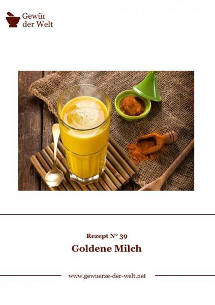 Rezeptkarte N°39 Goldene Milch