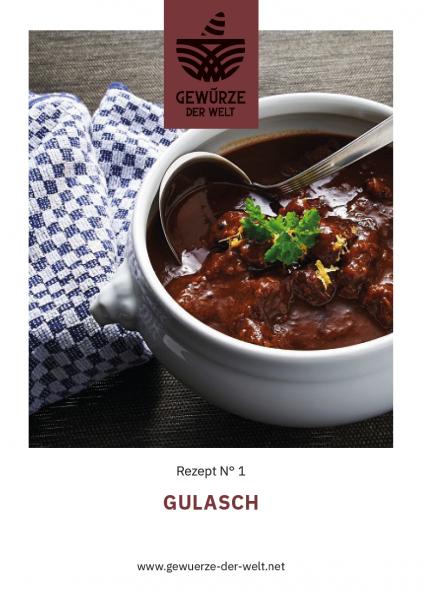Rezeptkarte N°1 Gulasch
