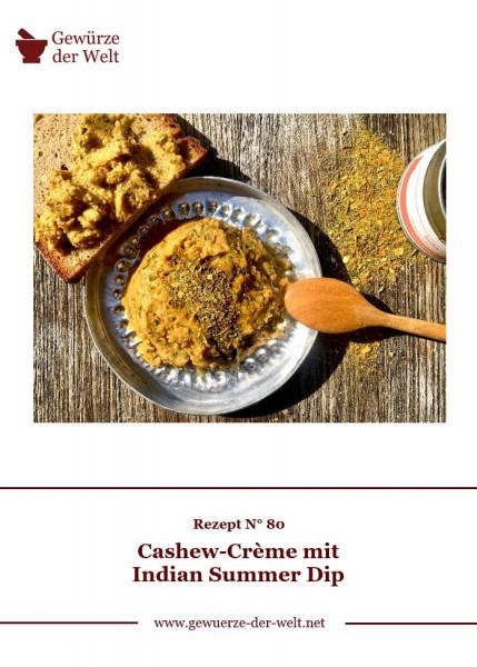 Rezeptkarte N°80 Cashew-Crème Indian Summer Dip