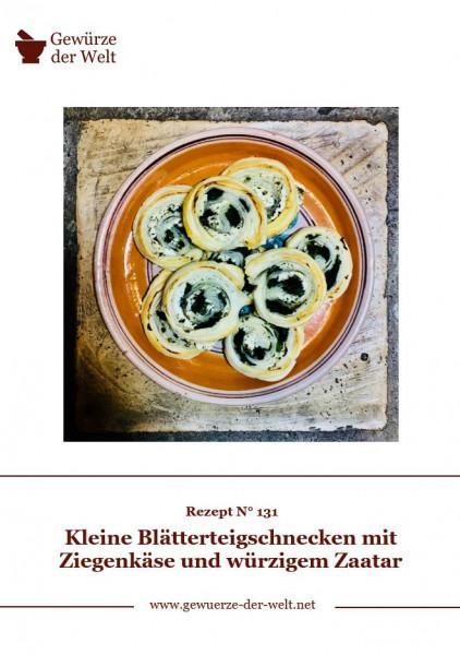 Rezeptkarte N°131 Zaatar-Blätterteigschnecken