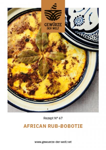Rezeptkarte N°67 African Rub Bobotie