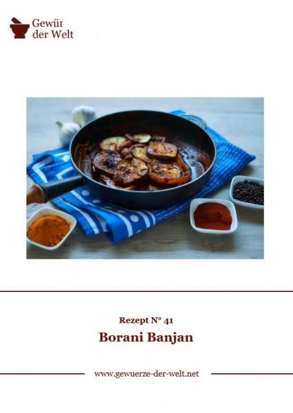 Rezeptkarte N°41 Borani Banjan