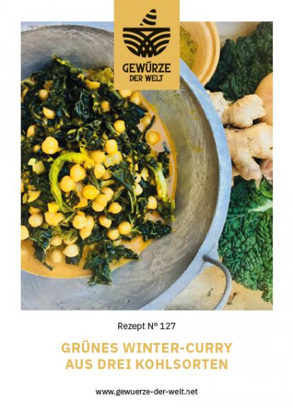 Rezeptkarte N°127 Grünes Winter-Curry