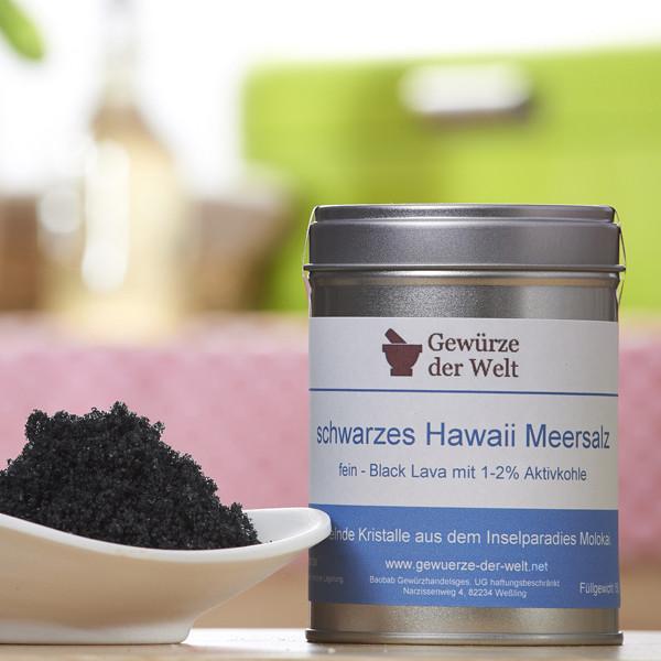 Feines Hawaiisalz schwarz (Dekorsalz)