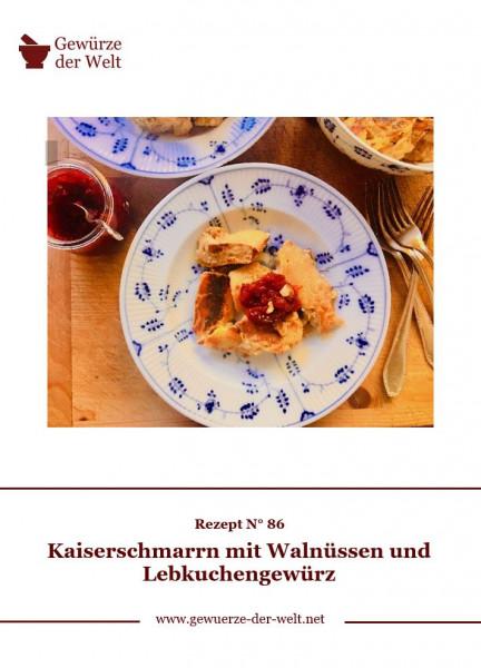 Rezeptkarte N°86 Kaiserschmarrn mit Walnüssen und Lebkuchengewürz