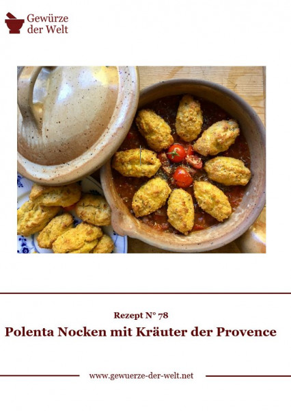 Rezeptkarte N°78 Kräuter der Provence Polenta Nocken
