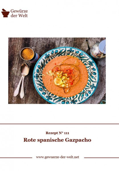 Rezeptkarte N°111 Rote spanische Gazpacho
