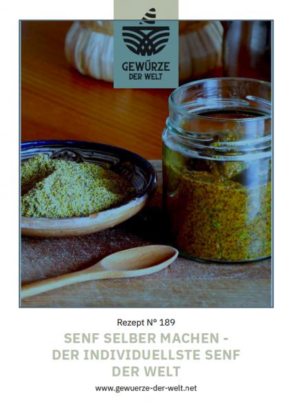 Rezeptkarte N°189 Senf selber machen - der individuellste Senf der Welt
