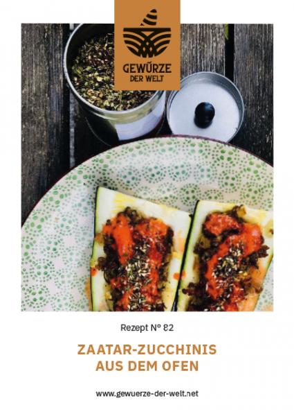 Rezeptkarte N°82 Zaatar Zucchinis aus dem Ofen