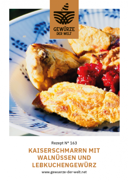 Rezeptkarte N°163 Kaiserschmarrn mit Walnüssen und Lebkuchengewürz