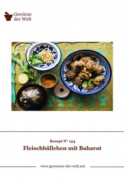 Rezeptkarte N°134 Fleischbällchen mit Baharat