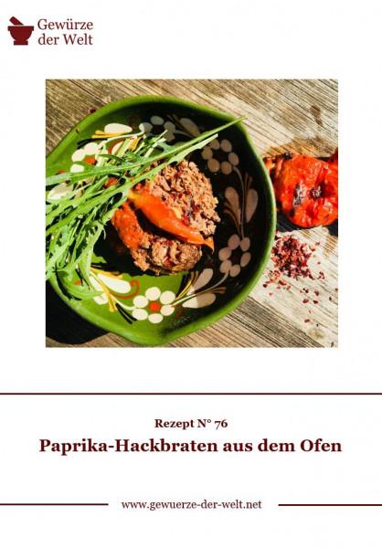Rezeptkarte N°76 Paprika-Hackbraten aus dem Ofen