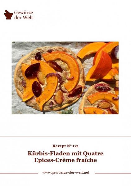 Rezeptkarte N°121 Kürbis-Fladen mit Quatre