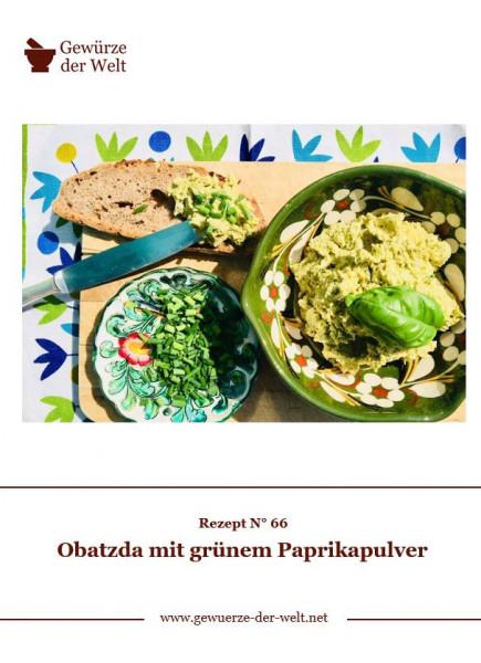 Rezeptkarte N°66 Obatzda mit grünem Paprikapulver