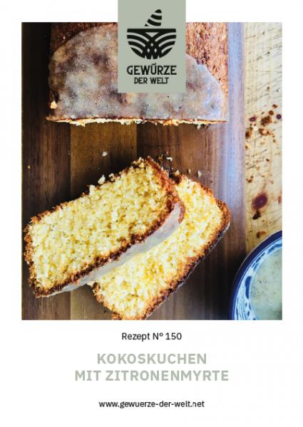 Rezeptkarte N°150 Kokoskuchen mit Zitronenmyrte