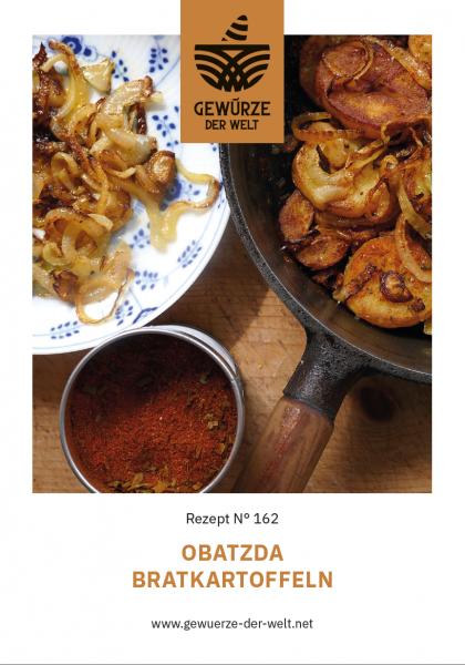 Rezeptkarte N°162 Obatzda Bratkartoffeln